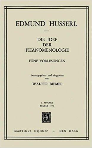 husserl - fenomenoloji üzerine beş ders