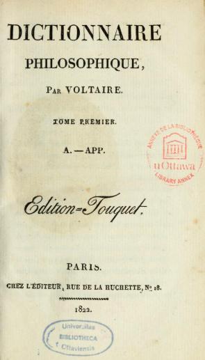 voltaire felsefe sözlüğü