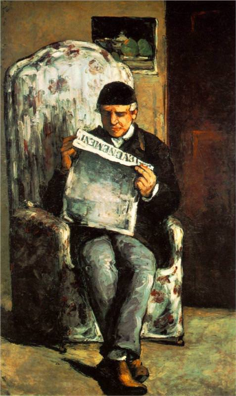 the-artist-father-reading-his-newspaper