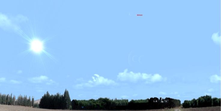 venüs gökyüzünde
