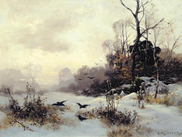 crows-in-a-winter-landscape-karl-kustner