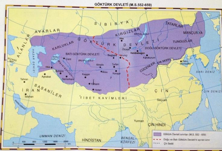 gök-türk devleti harita 2