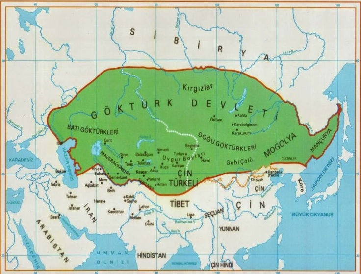 Göktürk harita